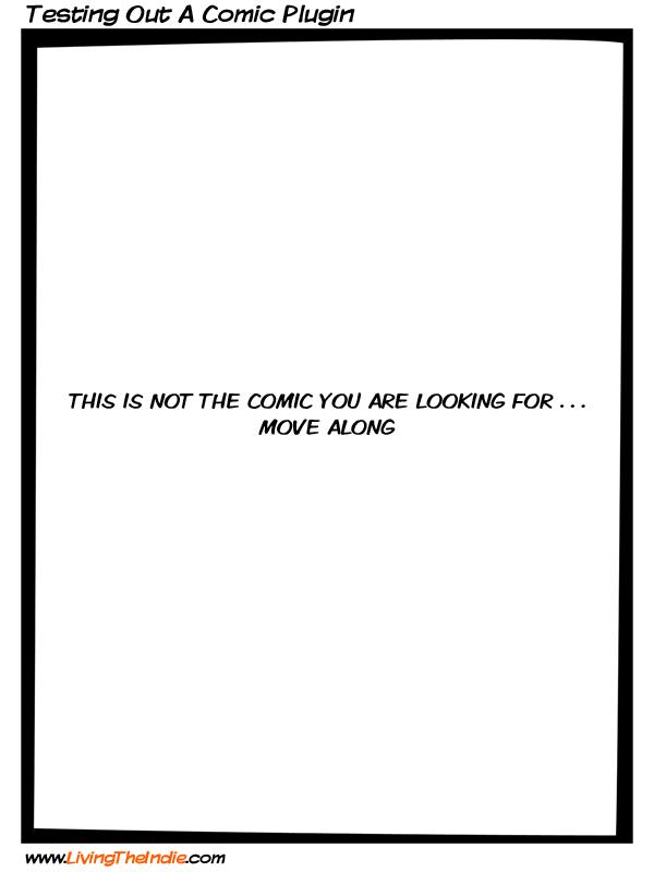 Testing out A Comic Plugin